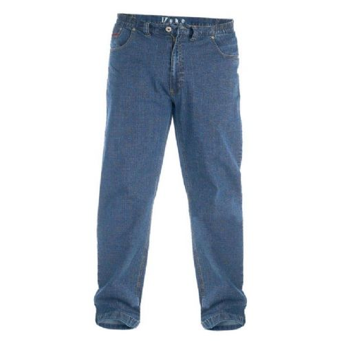 DUKE STRETCH JEANS WITH ELASTICATED WAIST - BLUE
